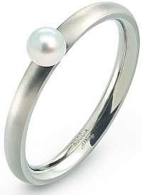 Boccia Titanium Titánový prsteň s perličkou 0145-01 56 mm