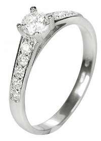 Brilio Dámsky prsteň s kryštálmi 229 001 00668 07 mm