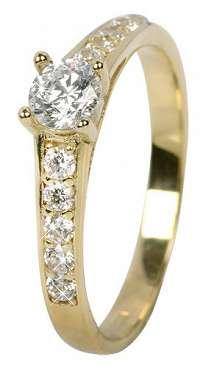 Brilio Dámsky prsteň s kryštálmi 229 001 00668 mm