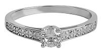 Brilio Dámsky prsteň s kryštálom 226 001 01017 07 mm