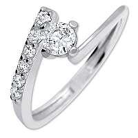 Brilio Silver Pekný zásnubný prsteň6 001 00435 04 - 1,65 g mm