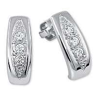 Brilio Silver Prekrásne náušnice s kryštálmi6 001 00162 04