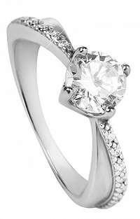 Brilio Silver Strieborný zásnubný prsteň6 001 00533 04 mm