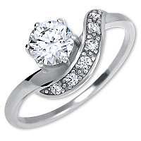 Brilio Silver Strieborný zásnubný prsteň6 001 00534 04 mm