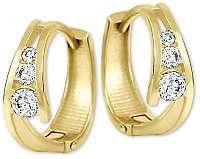 Brilio Zlaté náušnice krúžky s kryštálmi 239 001 00800