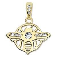 Brilio Zlatý prívesok Včielka9 001 00567