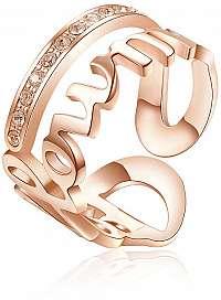 Brosway Oceľový prsteň Follow Me Script BRP34 mm