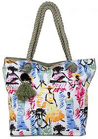 Bulaggi Dámska plážová taška Ariel shopper with rope / 3-pack271 Green