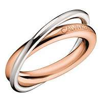 Calvin Klein Bicolor oceľový prsteň Double KJ8XPR2001 mm