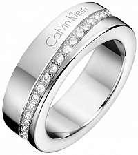 Calvin Klein Oceľový prsteň s kryštálmi Hook KJ06MR0402 mm