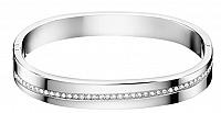 Calvin Klein Pevný náramok s kryštálmi Hook KJ06MD0401 6,2 x 4,9 cm - M