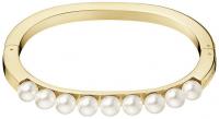 Calvin Klein Pevný pozlátený náramok s perličkami Circling KJAKJD14010 5,8 x 4,6 cm - S