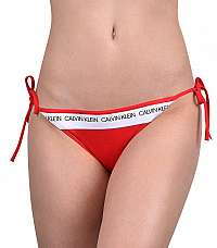 Calvin Klein Plavkové nohavičky String Side Tie Bikini CK Logo KW0KW00650-668 Laras Lipstick L