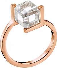 Calvin Klein Ružovo pozlátený prsteň s kocôčky KJ3HPR1401 mm