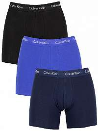 Calvin Klein Sada boxeriek Cotton Stretch 3P Boxer Brief NB1770A-4KU Black, Blue Shadow, Cobalt Water M
