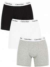 Calvin Klein Sada boxeriek Cotton Stretch 3P Boxer Brief NB1770A-MP1 Black,White,Grey Heather XL