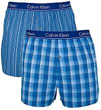 Calvin Klein Sada treniek Woven Boxer 2P Trad Fit Boxer NB1544A-LGW LarkinPlaid-Atlantis, Gallagher Stripe-Atlantis L