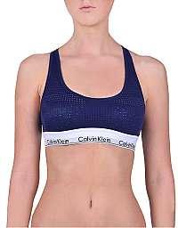 Calvin Klein Sportové podprsenka Unlined Bralette Shilo Blue QF4638E-XS6 M