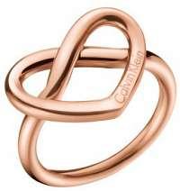 Calvin Klein Srdiečkový bronzový prsteň Charming KJ6BPR1001 mm