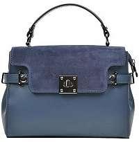 Carla Ferreri Kožená kabelka AW18C F3111 Blu scuro