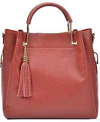 Carla Ferreri Kožená kabelka AW18CF1277 Rosso