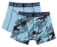 Cars Jeans Sada pánskych boxeriek Boxer 2pack Beat le Grey Blue57971 XL