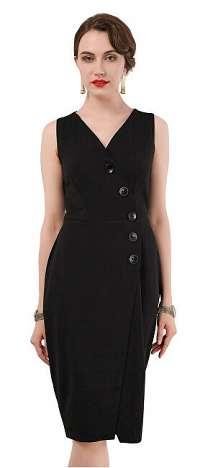 Closet London Dámske šaty Closet Wrap Pinafore Dress Black XXL