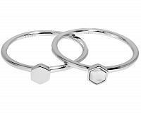 Cluse Sada dvoch prsteňov s šesťuholníkov CLJ42001 mm