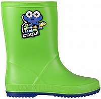 Coqui Detské gumáky Rainy Lime/Blue 8505-100-1450