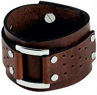 Cow Style Hnedý kožený náramok Vegas CS03-5020