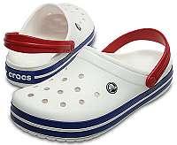 Crocs Šľapky Crocband White / Blue Jean 11016-11I-37