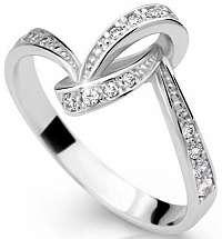 Danfil Nádherný prsteň so zirkónmi DLR2324b 62 mm