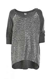 Deha Dámsky sveter Boatneck Sweater D63150 Dark Grey Mel.Lange M