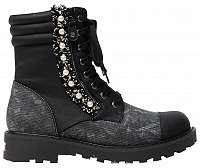 Desigual Dámske členkové topánky Shoes Combat Pearl Negro 19WSTP07 2000