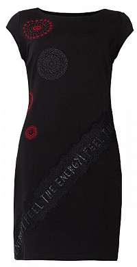 Desigual Dámske šaty Vest Briana Negro 19WWVKB5 2000 L