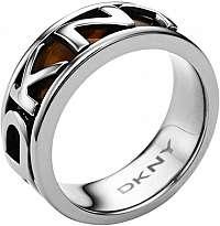 DKNY Oceľový prsteň s nápisom NJ1892040 mm