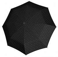 Doppler Dámsky skladací automatický dáždnik Fiber Magic Black&White 730165BW02