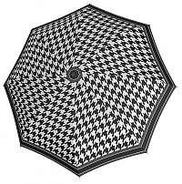 Doppler Dámsky skladací automatický dáždnik Fiber Magic Black&White 730165BW03