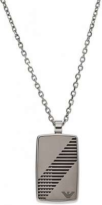 Emporio Armani Oceľový náhrdelník pre mužov EGS2027040
