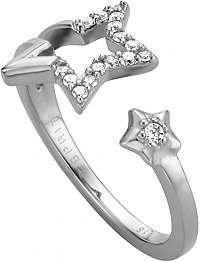 Esprit Strieborný prsteň s hviezdičkami Vivid Star ESRG004511 mm