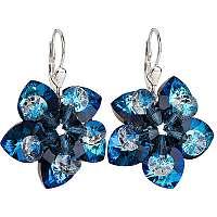 Evolution Group Náušnice kvety130.5 bermuda blue
