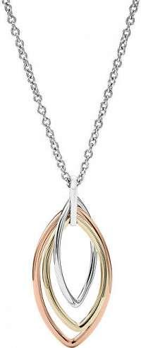 Fossil Tricolor náhrdelník pre ženy JF02779998