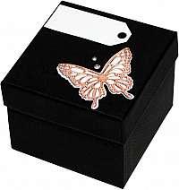 Giftisimo Luxusná darčeková krabička s bronzovým motýlikom