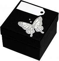 Giftisimo Luxusná darčeková krabička so strieborným motýlikom