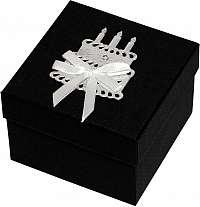 Giftisimo Luxusná darčeková krabička so strieborným tortou