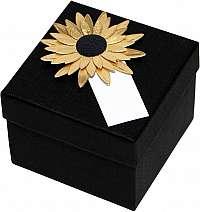 Giftisimo Luxusná darčeková krabička so zlatou slnečnicou