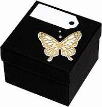 Giftisimo Luxusná darčeková krabička so zlatým motýlikom