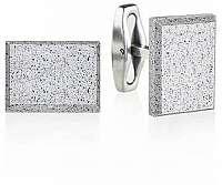 Gravelli Manžetové gombíky z betónu a ocele Falcon GJCMNAG004UN