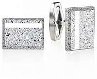 Gravelli Manžetové gombíky z betónu a ocele Falcon Steel GJCMSSG004UN