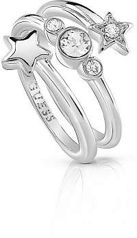 Guess Hviezdny prsteň s kryštálmi UBR84002 mm